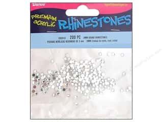 beading & jewelry making supplies: Darice Acrylic Rhinestones 3 mm Round 200 pc. Crystal