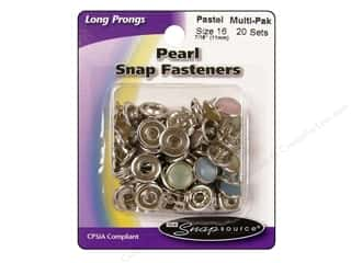 Snapsource Capped Prong Ring Snap Fasteners Size 16 Pearl Pastel