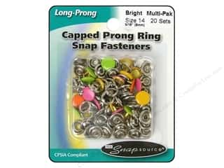 Snapsource Capped Prong Ring Snap Fasteners Size 14 Bright