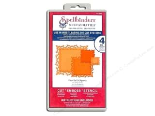 Spellbinders Nestabilities Decorative Elements Die Fleur de Lis Squares