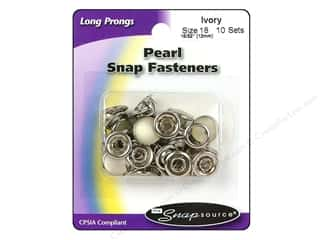 Snapsource Pearl Snap Fastener Size 18 Pearl Ivory