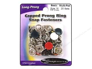 Snapsource Capped Prong Ring Snap Fasteners Size 16 Basic