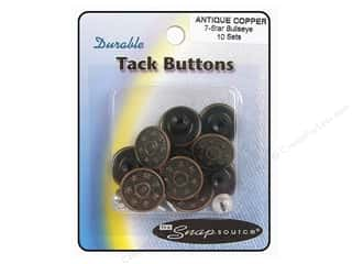 Jean Buttons: Snapsource Tack Button 7 Star Bullseye Antique Copper