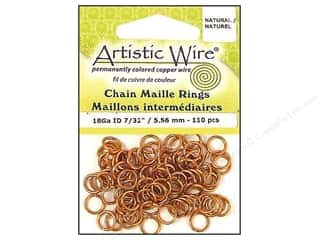 spring creating sale: Artistic Wire Chain Maille Jump Rings 18 ga. 7/32 in. Natural 110 pc.