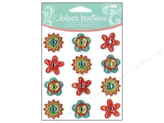 Jolee's Boutique Cabochons Yellow Dot Flowers