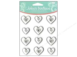 Valentines Day Gifts Stickers: Jolee's Boutique Cabochons Silver Hearts
