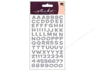EK Sticko Alphabet Stickers Funhouse Metallic Silver