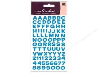 stickers: EK Sticko Alphabet Stickers Funhouse Metallic Blue
