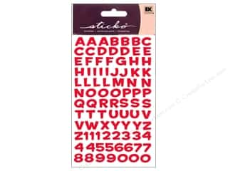 EK Sticko Alphabet Stickers Funhouse Metallic Red