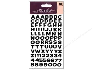 stickers: EK Sticko Alphabet Stickers Funhouse Metallic Black