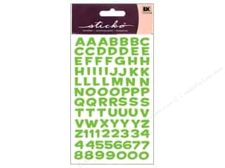 stickers: EK Sticko Alphabet Stickers Funhouse Metallic Green