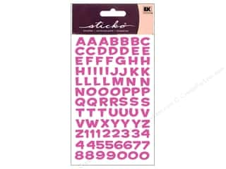 stickers: EK Sticko Alphabet Stickers Funhouse Metallic Pink
