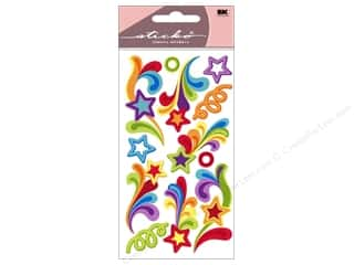 stickers: EK Sticko Stickers Rainbow Waves