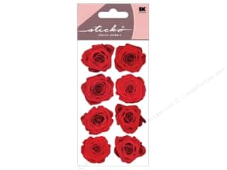 stickers: EK Sticko Stickers Red Roses