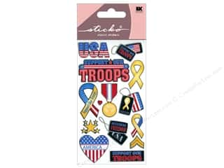 scrapbooking & paper crafts: EK Sticko Stickers Support Our Troops