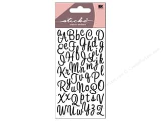 scrapbooking & paper crafts: EK Sticko Alphabet Stickers Script Sweetheart Small Glitter Black
