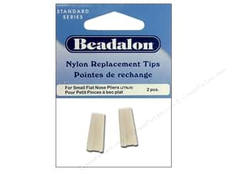 Beading & Jewelry Making Supplies: Beadalon Flat Nose Plier Replacement Tips 2 pc.