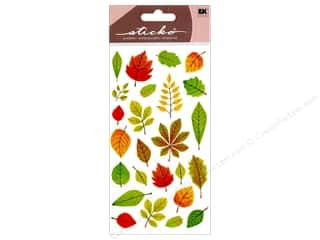 EK Sticko Stickers Elegant Fall Leaves