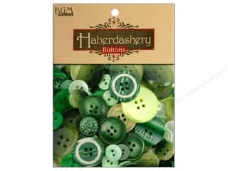 Sew-on Buttons: Buttons Galore Haberdashery Buttons Classic Green