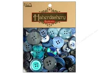 Buttons: Buttons Galore Haberdashery Buttons Classic Blues