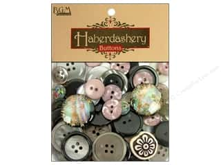 cover button: Buttons Galore Haberdashery Classic Buttons Black/Silver