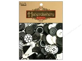 Buttons: Buttons Galore Haberdashery Buttons Black & White