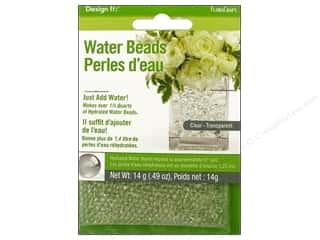beading & jewelry making supplies: FloraCraft Water Beads Dehydrated Clear