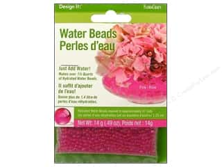beading & jewelry making supplies: FloraCraft Water Beads Dehydrated Pink