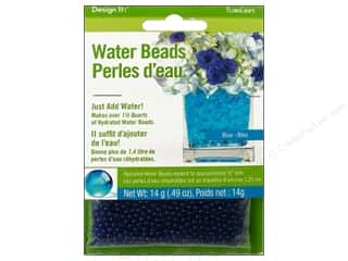 beading & jewelry making supplies: FloraCraft Water Beads Dehydrated Blue