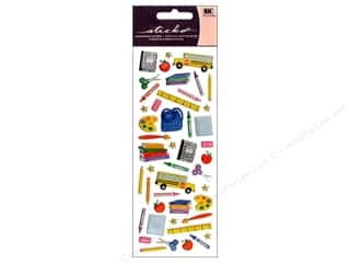 ruler: EK Sticko Stickers Puffy Time for School