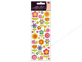 Sticko Puffy Stickers - Happy Flowers