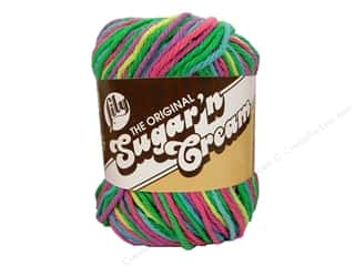 Yarn & Needlework: Lily Sugar 'n Cream Yarn  2 oz. #2600 Psychedelic