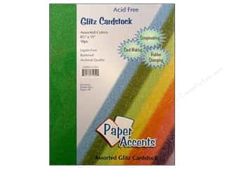 Paper Accents Cardstock: Cardstock Variety Pack 8 1/2 x 11 in. Assorted Glitz 10 pc. by Paper Accents