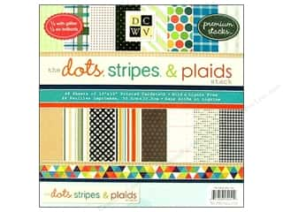 die cuts: Die Cuts with a View 12 x 12 in. Paper Stack Dots, Stripes & Plaids