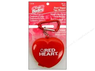 Measuring Tapes/Gauges: Susan Bates Heart Shaped Tape Measure