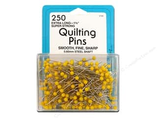 Quilting Collins: Quilting Pins by Collins 1 3/4 in. Yellow Head 250 pc.
