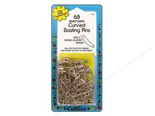 Quilting Collins: Curved Basting Pins Brass by Collins 1 1/2 in. 65 pc.