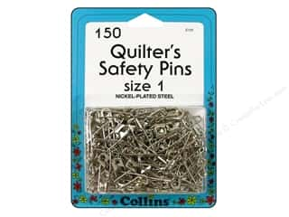 Safety pins: Quilter's Safety Pins by Collins 1 in. 150 pc.