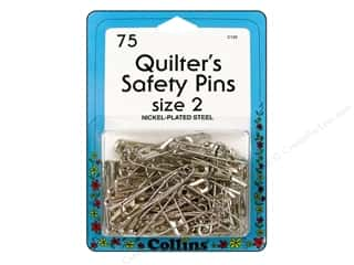 Safety pins: Quilter's Safety Pins by Collins 1 1/2 in. 75 pc.