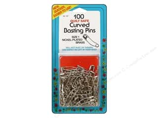 Quilting Collins: Curved Basting Pins by Collins 1 in. 100 pc.
