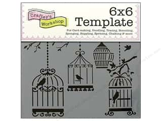 Feathers: The Crafter's Workshop Template 6 x 6 in. Birds Of A Feather