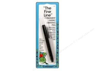 Fine Tip Black Marker: Fine Line Permanent Pen by Collins Black