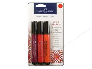 stamps: FaberCastell Stamper's Big Brush Pen Mix & Match Set Red