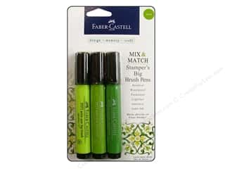 stamps: FaberCastell Stamper's Big Brush Pen Mix & Match Set Green