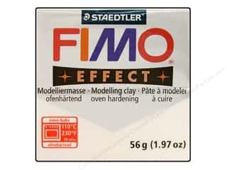 Fimo Soft Clay 2 oz. Glitter White