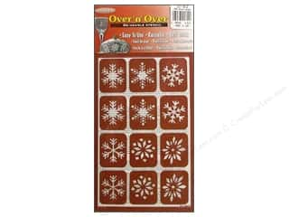 craft & hobbies: Armour Over 'N' Over Stencil Snowflakes