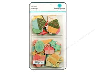 chipboard stickers: Martha Stewart Chipboard Stickers Present and Icon