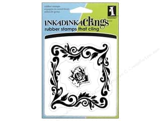 Inkadinkado Inkadinkaclings Stamp Rose Frame