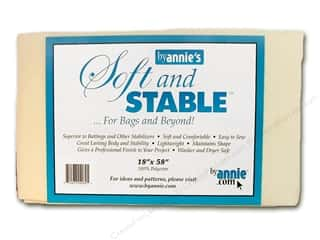 batting Fusible: By Annie Soft And Stable Stabilizer 18 x 58 in. White