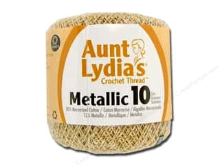 yarn & needlework: Aunt Lydia's Metallic Classic Cotton Crochet Thread Size 10 100 yd. Natural/Gold